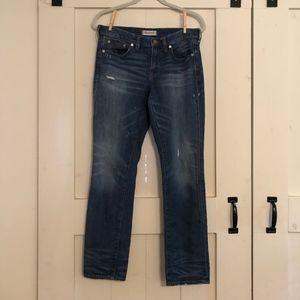 Madewell Blue Jeans Slim Wide Leg Boyjean